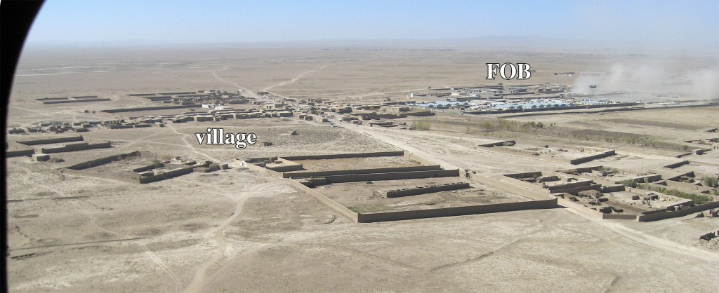 FOB Waza Khwa and village