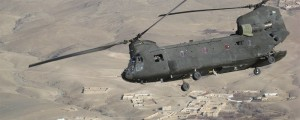 Chinook over Paktia Province, Afghanistan