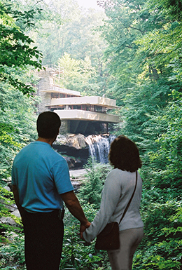 Rob and Judi Crimmins at Falling water