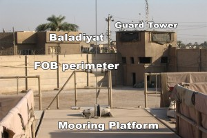PTDS mooring platform at Site 3, FOB Loyalty, East Baghdad