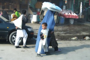 Woman and Child on Maiwand Road, Kabul